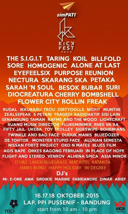 Kickfest 2015 Lineup